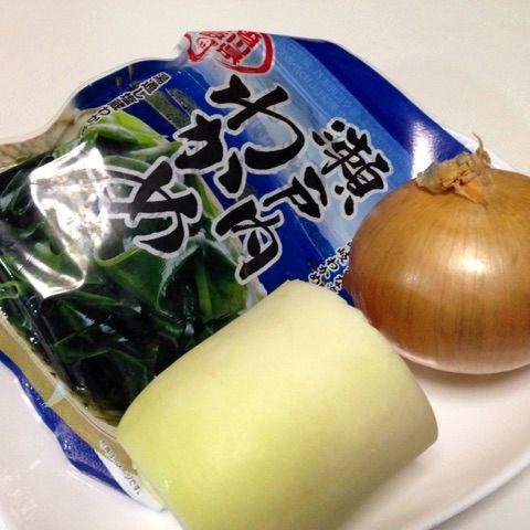 タマネギとダイコンのサラダ(材料)