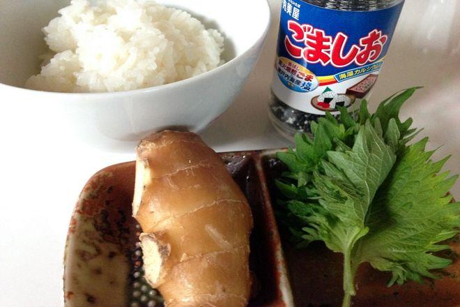 生姜シソご飯(材料)