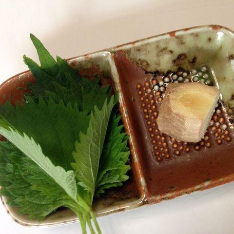 シソの葉入り生姜湯(材料)