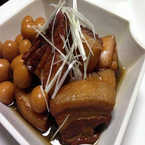 精力アップレシピ|うずら卵と豚の角煮
